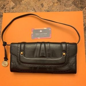 brahmin black clutch handbag authentic